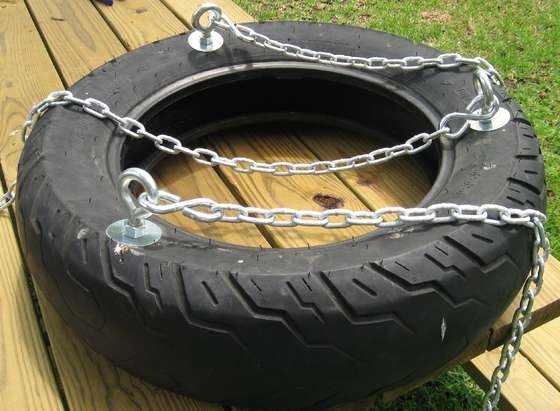 finished tire swing